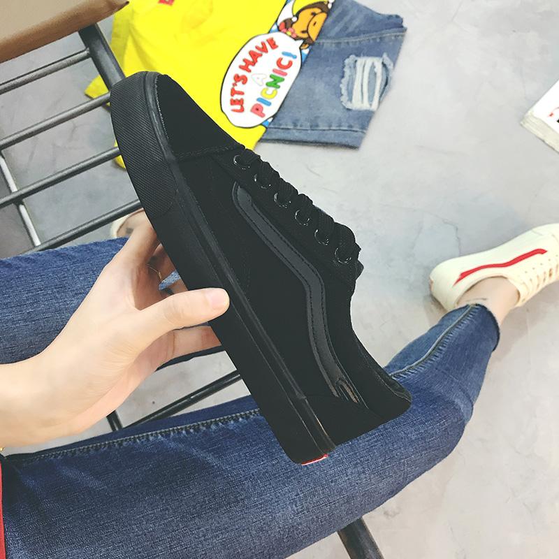 帆布鞋女鼕季加絨2017新款秋百搭韓版學生小白板鞋ins超火的鞋子