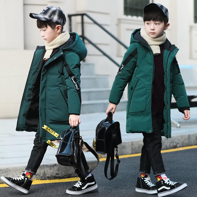 男童棉衣冬装中长2018新款加厚儿童羽绒棉服袄中大童休闲韩版童装