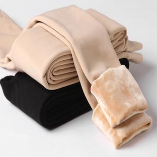 2017冬天光腿肉色打底裤女外穿薄款踩脚肤色连袜秋裤加绒加厚棉裤