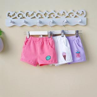 女宝宝短裤夏季热裤1-2-3-4岁女童装夏装夏天婴儿裤子外穿潮薄款0