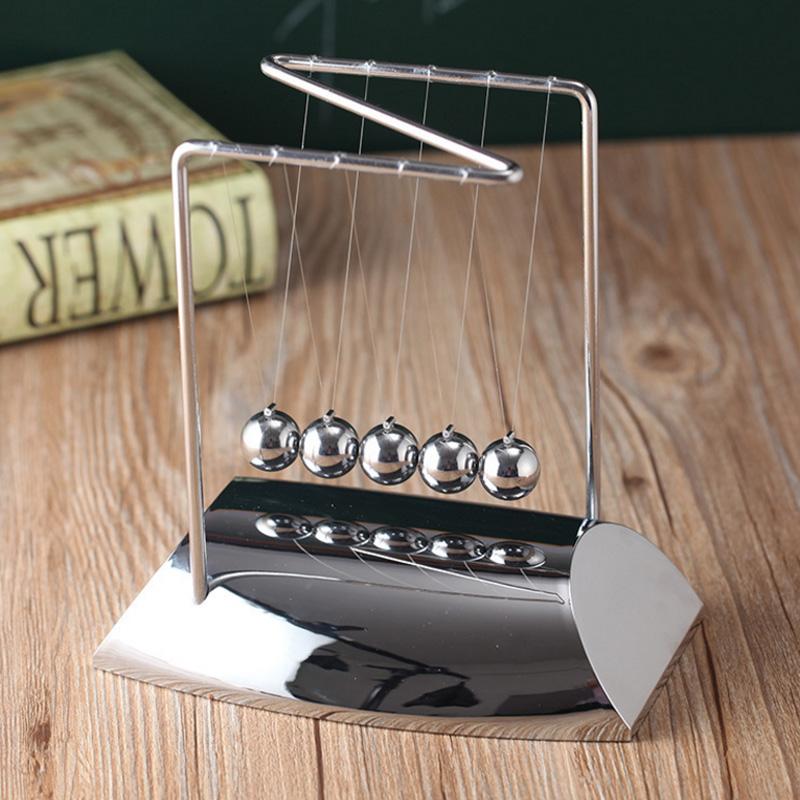 z字形状电镀牛顿摆球金属撞撞球碰珠物理能量守恒科教永动机摆件