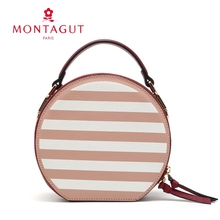 Mengtejiao women's bag new European and American fashion small round bag net red portable single shoulder small bag slant across leather MK fashion