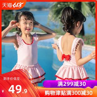 儿 泳衣女 连体公主裙式韩版中
