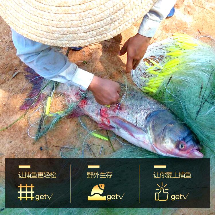 三层进口绿丝渔网粘网丝网捕鱼网粘鱼网挂网鲫鱼网加重沉网自动捕