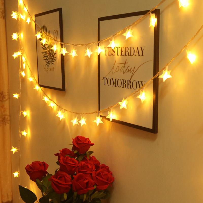 星星灯饰网红浪漫房间布置ins宿舍过年装饰小彩灯闪灯串灯满天星