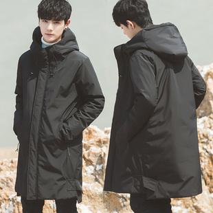 加厚2018冬季装新款韩版修身棉衣棉服袄子男士中长款外套潮流帅气