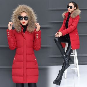 Down jacket women's mid-length long section 2019 new cotton coat women's large size was thin cotton jacket women winter thick women's jacket