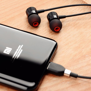 Xiaomi 9 headphones in-ear type-c version mix2 interface tpc noise reduction magic sound 6x youth version 8se eight tape men and women tpye flat head hole tapy nine tpc line control dedicated Fokoos original