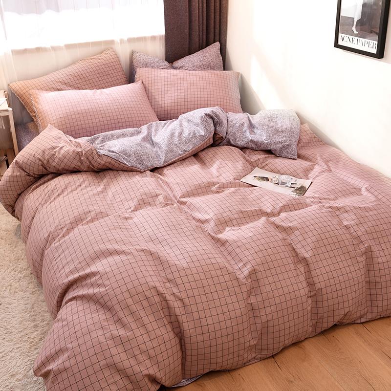 网红款四件套全棉纯棉床上用品公主风被套床单床笠三件套被单被子