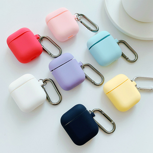 AirPods Case Apple Bluetooth Wireless Headphone Case iPhone Pure Color Air Cute Silicone Ipod Shell Change Color Pods Box Cover Vibrato airpod Accessories ins Korea Protective Case