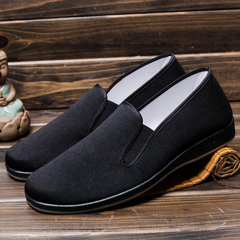 老北京布鞋男休闲鞋工作鞋单鞋中老年散步鞋男士开车鞋爸爸懒人鞋