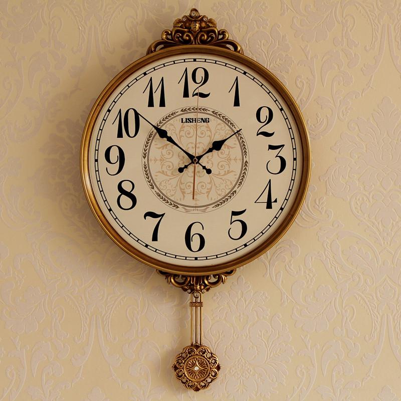 美式挂钟客厅创意简约静音钟表个性时尚大气墙上挂表欧式家用时钟