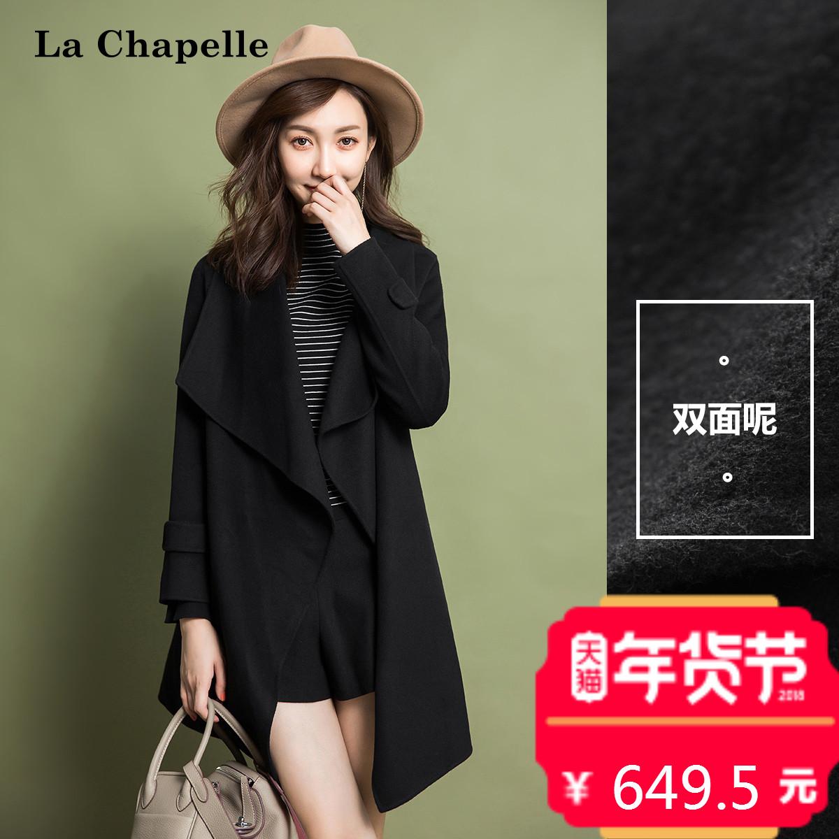 双面呢羊毛呢大衣外套女士中长款2017秋冬季新款韩版时尚宽松显瘦
