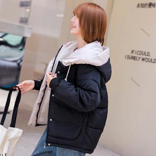 羽绒棉服女短款冬季2019新款韩版大码面包服棉袄宽松加厚棉衣外套