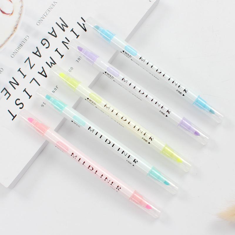 创意新品双头荧光笔学生用彩色笔重点划线标记笔斜头记号笔涂鸦笔