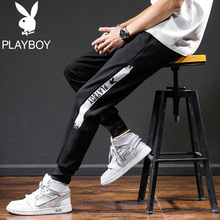 Playboy Men's Casual Pants 2019 New Summer Thin Sports Pants Men's Korean Fashion Nine-cent Pants