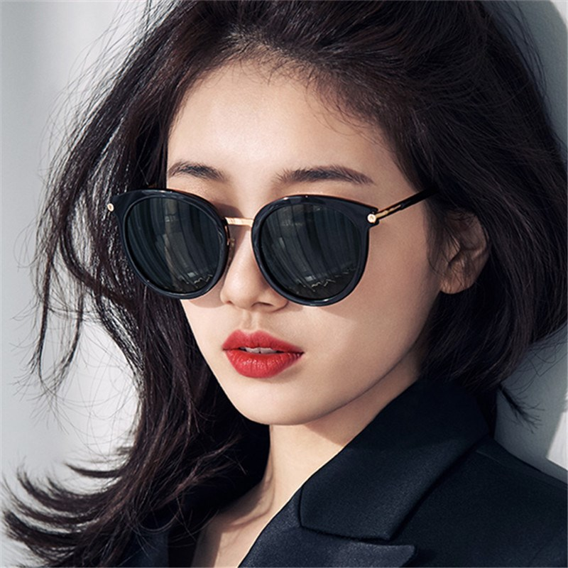 GM墨镜女2019新款防紫外线韩版潮网红太阳镜ins街拍眼睛圆脸女士