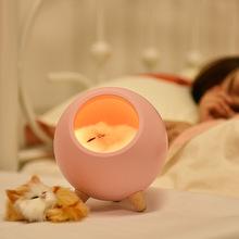一个创意 送男qy4朋友生日be新奇浪漫萌夜灯 可爱猫咪伴睡灯
