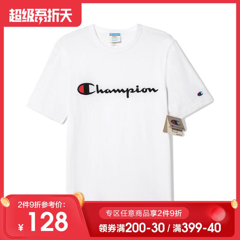 美版champion冠军短袖t恤男士刺绣印花logo情侣装休闲夏装ins潮牌