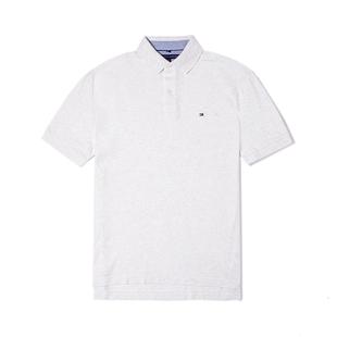 美国Tommy Hilfiger男装 汤米简约经典宽松款纯色Polo衫男 短袖