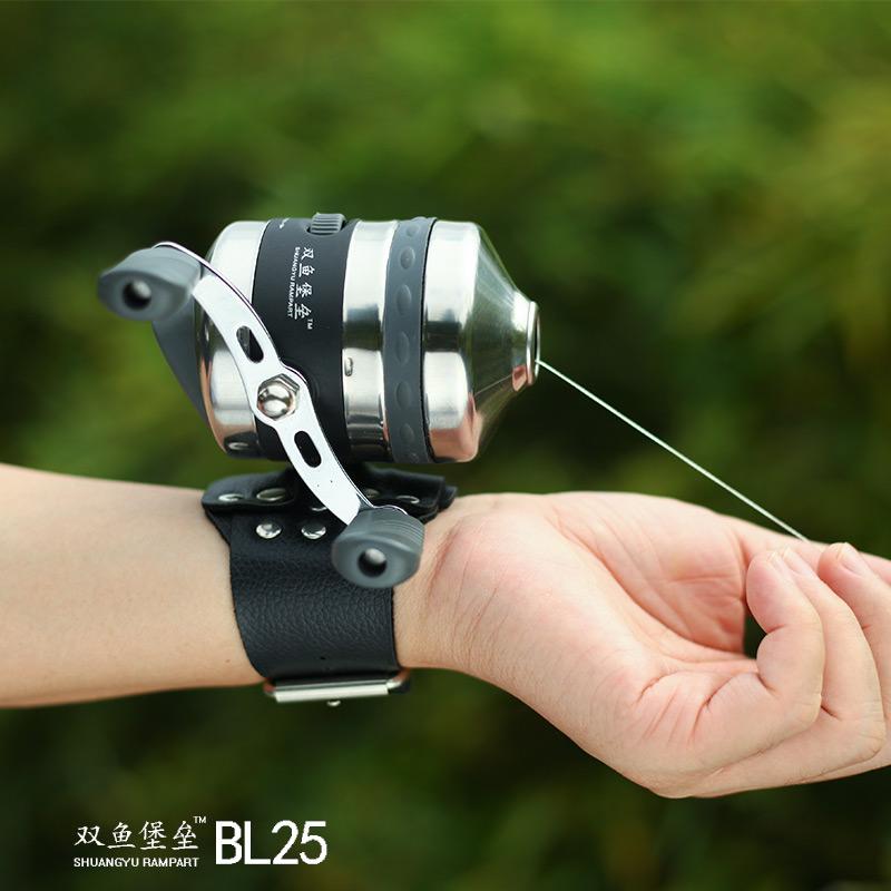 双鱼BL25射鱼轮傻瓜轮射鱼鱼轮封闭式渔轮鱼镖鱼轮 弹弓鱼轮