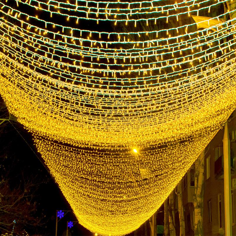 led小彩灯闪灯串灯满天星七彩变色春节装饰灯星星灯家用过年灯串