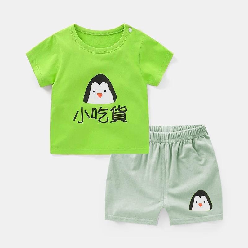 潮童童装男女童套装宝宝夏装2019新款儿童衣服小孩短裤纯棉两件套