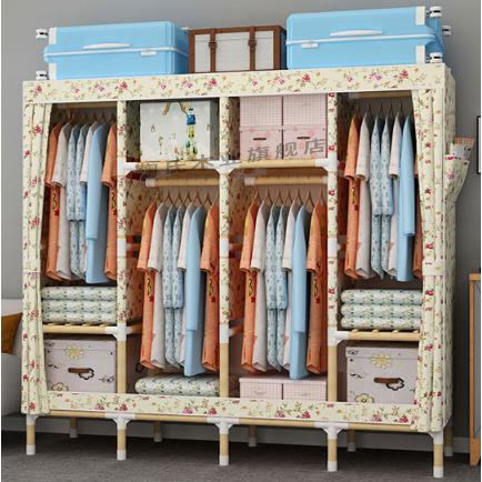 新款大学生宿舍收纳神器1.5米高70CM长简易布艺拉链全密封布衣柜