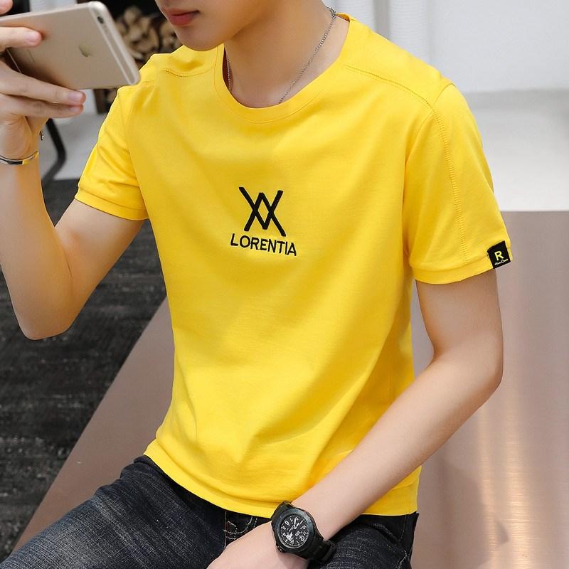 夏季纯棉宽松男学生短袖t恤青少年韩版潮流帅气上衣潮牌体恤男装