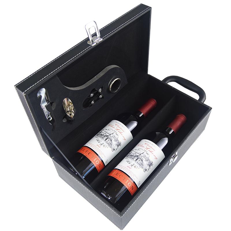 查理红红酒2支装 干红葡萄酒双支装 14度正品送礼盒750ml