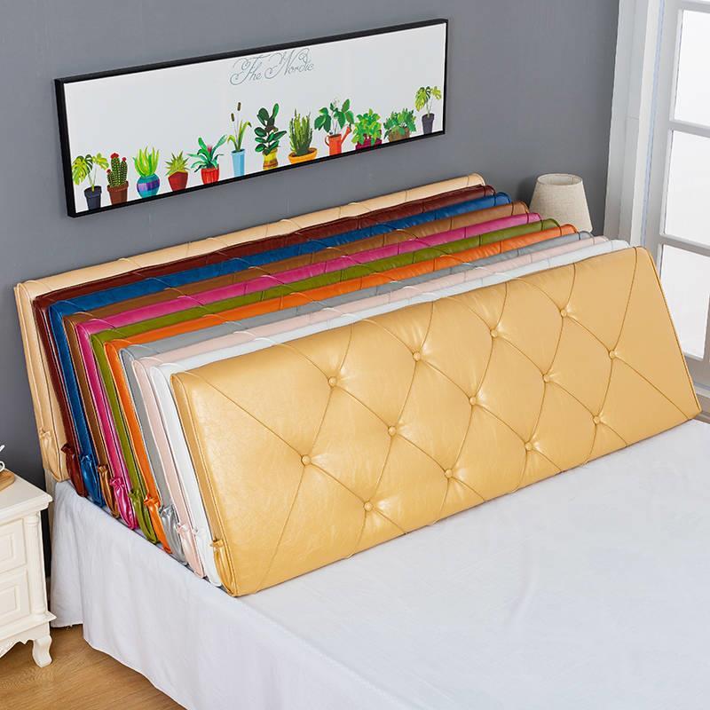 床头靠垫软包双人大靠背简约现代榻榻米无床头靠垫实木床头罩软包