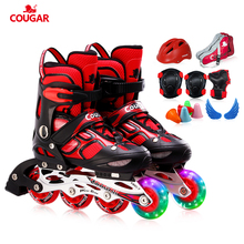 Puma children's skating shoes full set 3-12-year-old roller skates straight wheel skates for boys and girls beginner