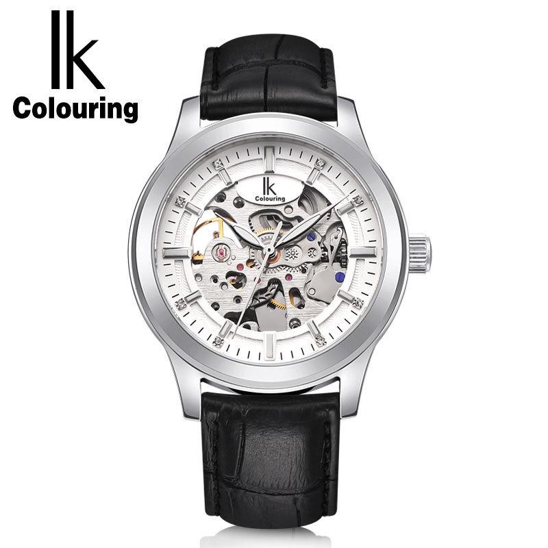 时尚流行女士腕表阿帕琦IK品牌手表男士镂空矿物强化表镜面自动机