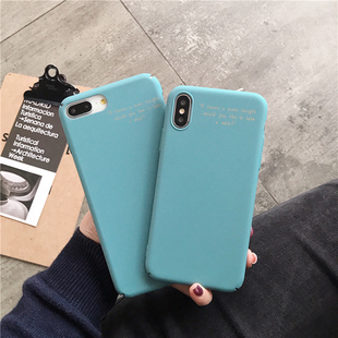 烫金色英文苹果xsmax硬壳iphonexs手机壳xr壳7plus保护套8/7外壳6