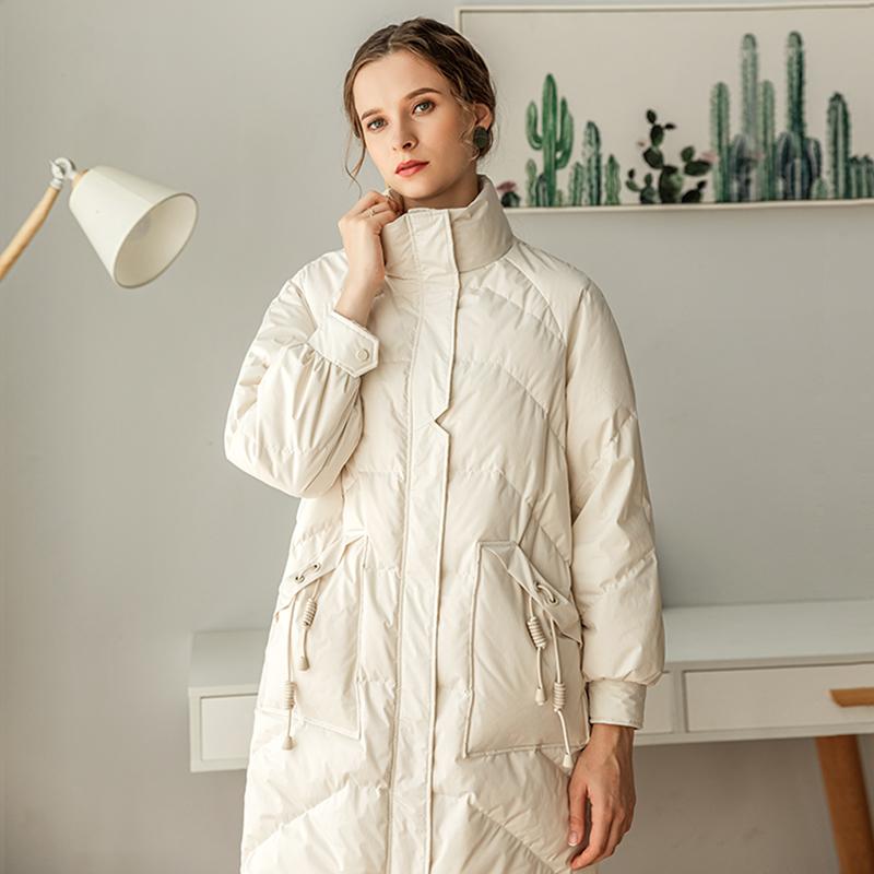 2019年新款冬季时尚亮面过膝羽绒服女中长款爆款外套派克矮个子