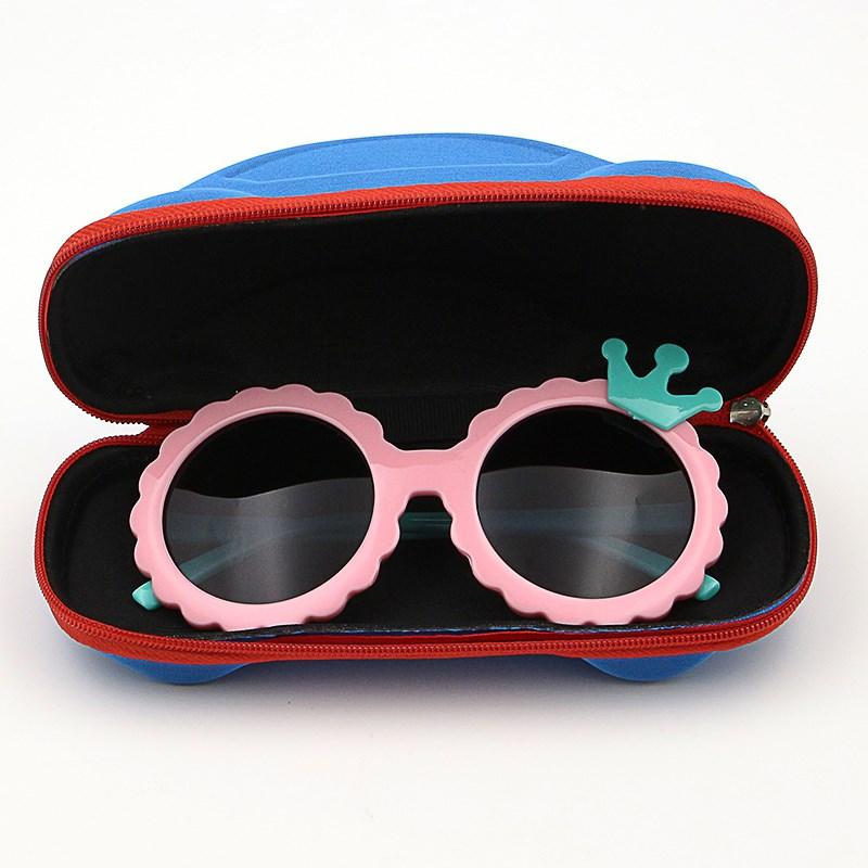 儿童墨镜潮女童眼镜防紫外线公主可爱个性韩版小孩太阳镜2018新款