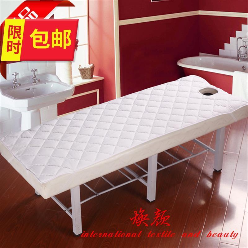 美容床护垫美体按摩床罩床单开洞定8做圆头聚酯纤维床垫