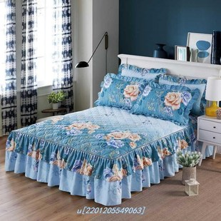 More direct manufacturers quilted bed skirt double lace beds