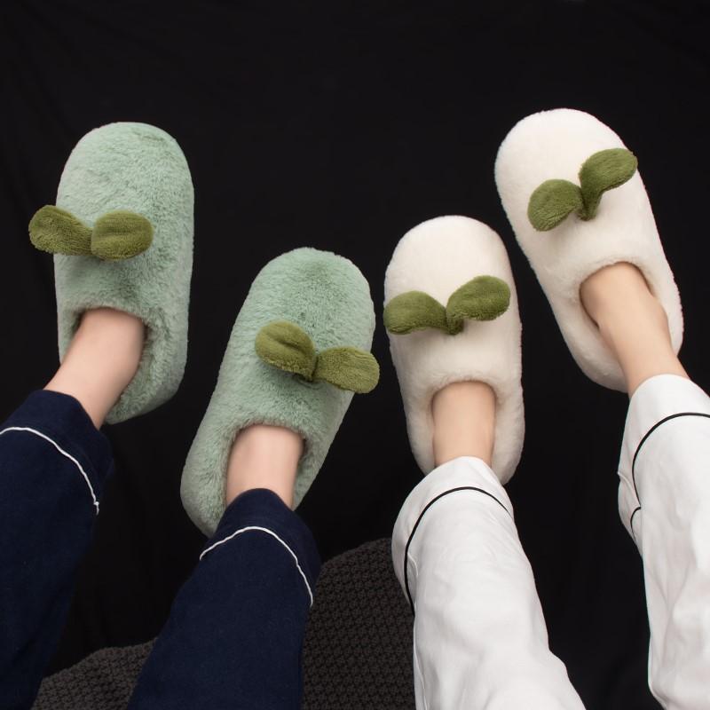 棉拖鞋女冬室内居家可爱亲子棉鞋产后包跟月子鞋情侣家用男士棉拖