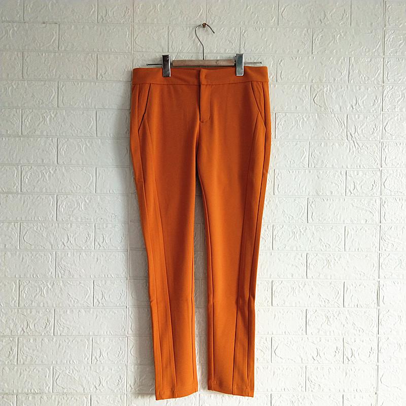 RMEO/浪漫一身女装春季微弹弹力裤子紧身长裤休闲显腿瘦潮裤断码