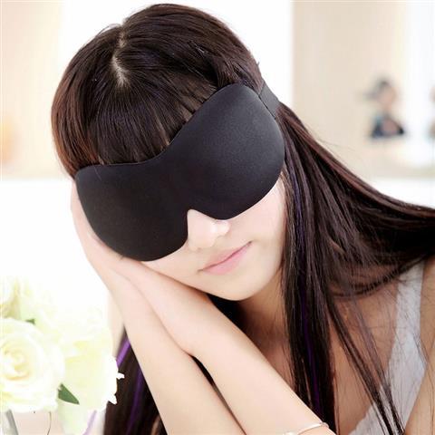 3D立体裁剪遮光眼罩 3d眼罩 无鼻翼游戏无痕睡觉柔软用睡眠护眼罩