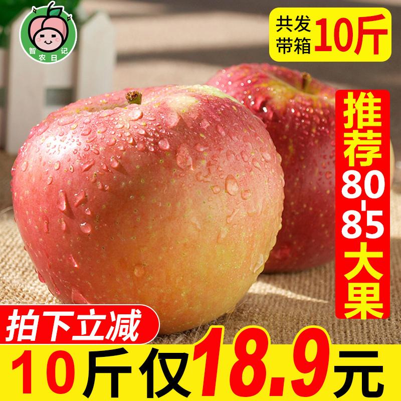 [¥21.9]【推荐大果】陕西红富士苹果10斤 当季新鲜水果冰糖心丑苹果整箱