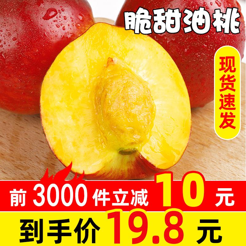 黄肉油桃现摘5斤整箱现货包邮当季孕妇脆甜新鲜水果应季黄心桃子
