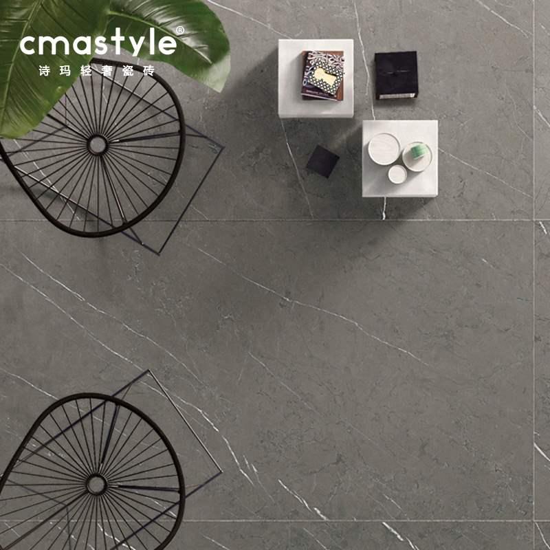 深灰色大理石墙砖75度灰柔抛肌理面通体瓷砖客厅地砖卫生间防滑砖