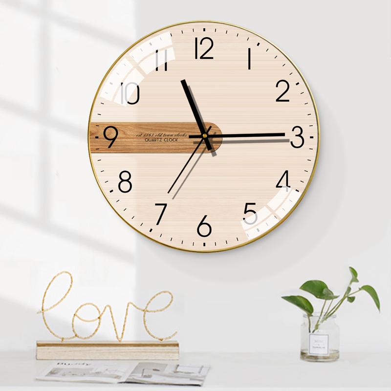 梵现代简约清新时尚钟表客厅挂钟创意北欧静音个性卧室石英时钟