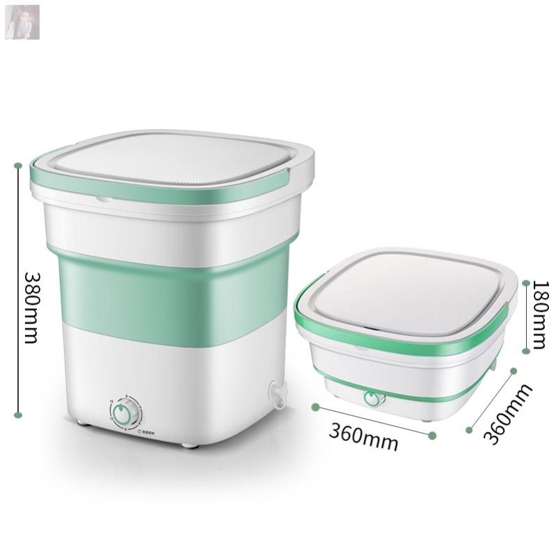 桶叠拆甩带一体干迷你洗衣机洗脱式便携式电动洗衣折叠万能小型