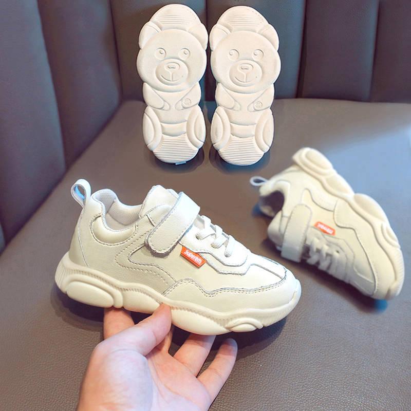 新款女童运动鞋儿童小熊老爹小白鞋男童鞋子中大童跑步小学生鞋