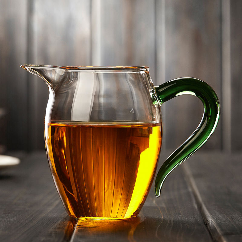耐热玻璃公道杯加厚分茶器功夫茶海公杯茶道配件企鹅过滤杯