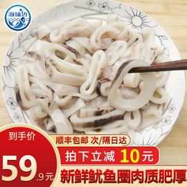 鱿鱼鲜活冷冻 鱿鱼圈新鲜半成品烧烤火锅食材油炸海鲜水产450g