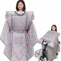 冬季挡风被双面防水小电动自行车冬天加绒加厚防寒风电瓶车挡风罩